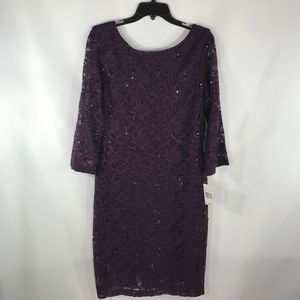 RONNI NICOLE PURPLE SIZE 10 MINI DRESS
